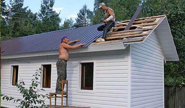 как сделать крышу в бытовке
