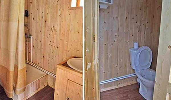 Туалет и душ в бытовке